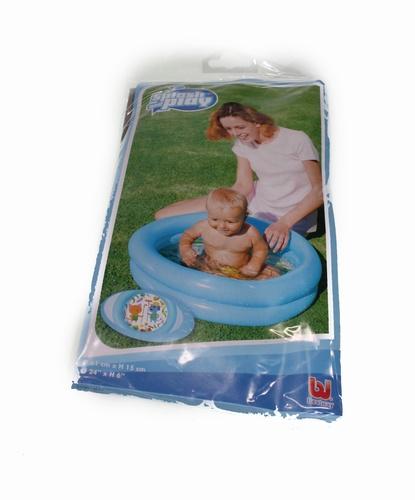 Baby opblaas zwembadje blauw