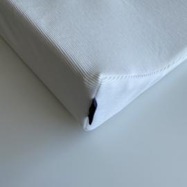 Aankleedkussenhoes | Rib ecru