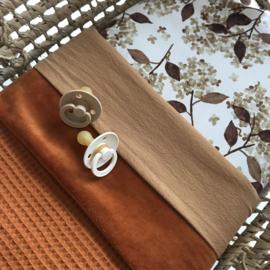 Wiegdeken | Velours - wafel | Cognac
