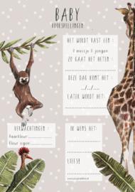 Babyshower invulkaarten | Set van 10