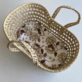 Matrasje voor reiswieg mini   Hortensia blush