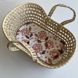 Matrasje voor reiswieg mini   Hortensia rosy