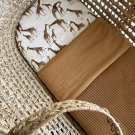 Wiegdeken | Big knit - gewassen katoen | Camel