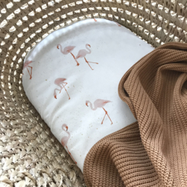 Hoeslaken wieg | Flamingos