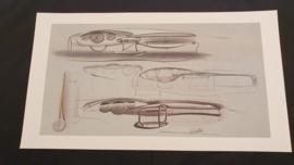 Porsche 911 996 Dashboard Design étude - 59 x 33 cm - Matthias Kulla