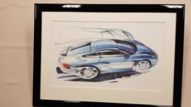 Dessin de conception porsche 996 - Steve Murrett 1992