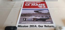 Porsche Le Mans 1983 - Historisches Rennplakat
