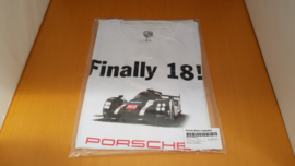 Porsche 919 T-shirt Finally 18 Le Mans 2016 blanc Porsche Design