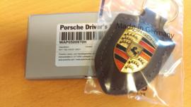 Porsche Schlüsselanhänger mit Porsche Emblem-grau