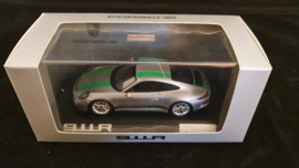 Porsche 911 (991 II) R silver with green striping - WAP0201460G