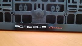 "Porsche license plate holder ""Classic"" - White/Red letters"