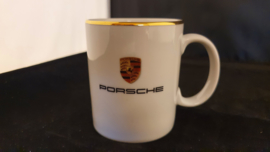 Porsche mug with gold edge - Porsche logo WAP1070640D
