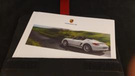 Porsche Boxster Spyder hardcover brochure in VIP map - 2009