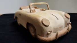 Porsche 356 cabriolet - model of wood