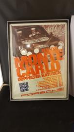 Porsche Rally Monte Carlo 1971 wall shield - Porsche Carrera 4