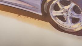 Porsche 986 Boxster - 59 x 33 cm - Grant Larson