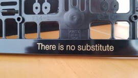 "Porsche license plate holder ""There is no Substitute"" - Golden letters"