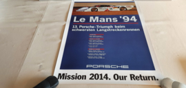 Porsche Le Mans 1994 - Historisches Rennplakat