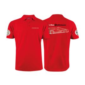 Porsche bright red Polo shirt Zuffenhausen Porsche Museum-Le Mans
