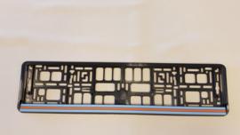 Porsche kentekenplaathouder - Gulf kleuren new design