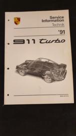 Porsche 911 964 Turbo Service Information Technik - 1991