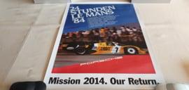 Porsche Le Mans 1984 - Historische race poster
