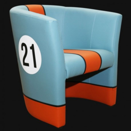 Porsche cabriolet chair Gulf n° 21 racing design
