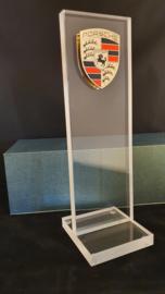 Porsche desktop glass pylon with logo - Porsche dealer edition