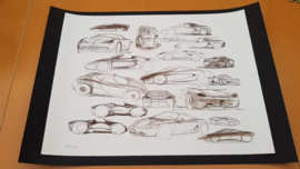 Porsche 986 Boxster collage - Limited edition