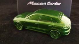 Porsche Macan Turbo 2020  Mamba vert Métallisé - Presse Papier
