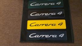 Porsche showroom License plate - Carrera 4