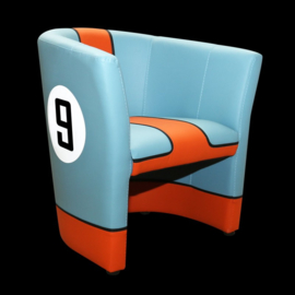 Porsche cabriolet chair Gulf n° 9 racing design