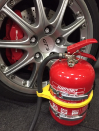 Fire Extinguisher (Werner) for Porsche 996 and 997 GT2 GT3 Clubsport and RS versions