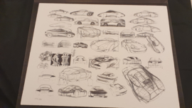 Porsche 911 996 Design study - 60 x 46 cm - Limited edition WAP09220197