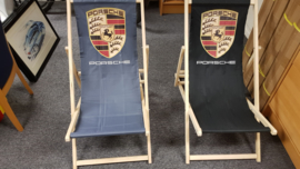 Porsche Beach chair with logo-black or grey fabric