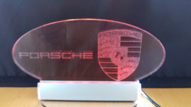 Porsche LED lighting (red) ornament with Porsche logo and name