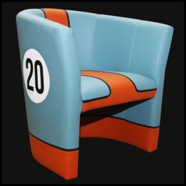 Porsche cabriolet chair Gulf n° 20 racing design
