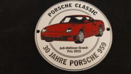 Grillbadge - Porsche Classic 30 Jahre Porsche 959 - AvD-Oldtimer Grand Prix 2015
