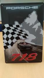 Porsche Boxster 718 Wandschild