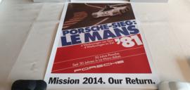 Porsche Le Mans 1981 - Historisches Rennplakat