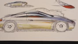 Porsche 911 996 Étude de conception - 59 x 33 cm - Steve Murrett