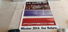 Porsche Le Mans 1986 - Historisches Rennplakat