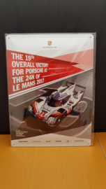 Porsche 919 Hybrid #2 wall shield - Le Mans victory number 19