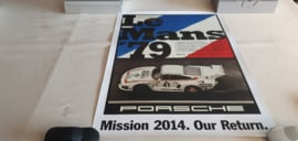 Porsche Le Mans 1979 - Historisches Rennplakat