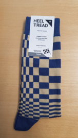 Porsche Pasha Navy/tan - HEEL TREAD Socks