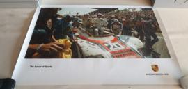 Porsche Le Mans 1976 - Historische race poster