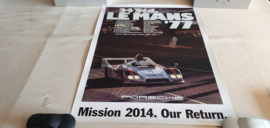 Porsche Le Mans 1977 - Historisches Rennplakat