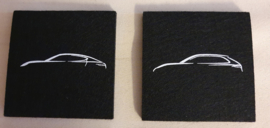 Porsche coasters of felt - Porsche models