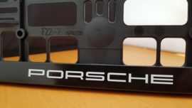 Porsche license plate holder - White letters