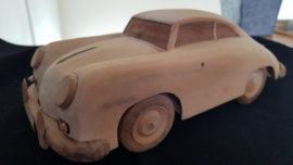 Porsche 356 coupe - model of wood